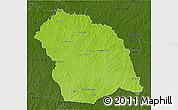 Physical 3D Map of FLORES, darken