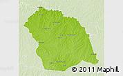 Physical 3D Map of FLORES, lighten