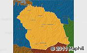 Political 3D Map of FLORES, darken
