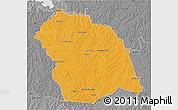 Political 3D Map of FLORES, desaturated