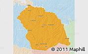 Political 3D Map of FLORES, lighten