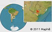 Satellite Location Map of FLORES