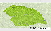 Physical Panoramic Map of FLORES, lighten
