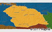 Political Panoramic Map of FLORES, darken