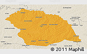 Political Panoramic Map of FLORES, shaded relief outside