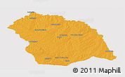 Political Panoramic Map of FLORES, single color outside