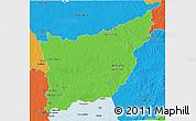 Political 3D Map of FLORIDA