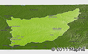 Physical Panoramic Map of FLORIDA, darken