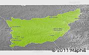 Physical Panoramic Map of FLORIDA, desaturated