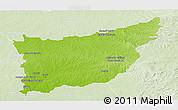 Physical Panoramic Map of FLORIDA, lighten