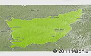 Physical Panoramic Map of FLORIDA, semi-desaturated