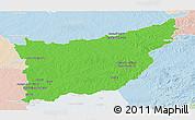 Political Panoramic Map of FLORIDA, lighten