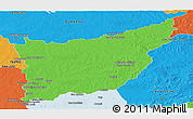 Political Panoramic Map of FLORIDA