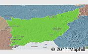 Political Panoramic Map of FLORIDA, semi-desaturated