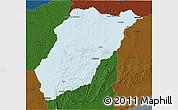 Political 3D Map of LAVALLEJA, darken