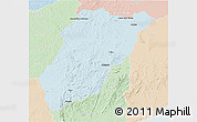 Political 3D Map of LAVALLEJA, lighten