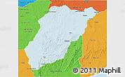 Political 3D Map of LAVALLEJA