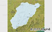 Political 3D Map of LAVALLEJA, satellite outside