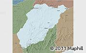 Political 3D Map of LAVALLEJA, semi-desaturated