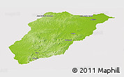 Physical Panoramic Map of LAVALLEJA, cropped outside