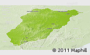 Physical Panoramic Map of LAVALLEJA, lighten