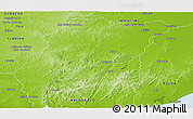 Physical Panoramic Map of LAVALLEJA