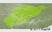 Physical Panoramic Map of LAVALLEJA, semi-desaturated