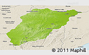 Physical Panoramic Map of LAVALLEJA, shaded relief outside