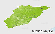 Physical Panoramic Map of LAVALLEJA, single color outside
