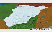Political Panoramic Map of LAVALLEJA, darken