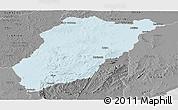 Political Panoramic Map of LAVALLEJA, desaturated