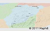 Political Panoramic Map of LAVALLEJA, lighten