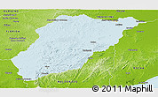 Political Panoramic Map of LAVALLEJA, physical outside