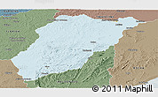 Political Panoramic Map of LAVALLEJA, semi-desaturated