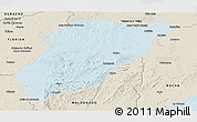 Political Panoramic Map of LAVALLEJA, shaded relief outside