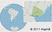 Savanna Style Location Map of Uruguay, lighten, semi-desaturated, land only