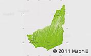 Physical Map of MALDONADO, cropped outside