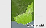 Physical Map of MALDONADO, darken