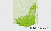 Physical Map of MALDONADO, lighten