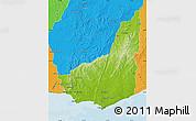 Physical Map of MALDONADO, political outside