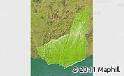 Physical Map of MALDONADO, satellite outside