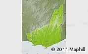 Physical Map of MALDONADO, semi-desaturated