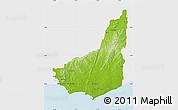 Physical Map of MALDONADO, single color outside