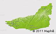Physical Panoramic Map of MALDONADO, cropped outside