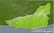 Physical Panoramic Map of MALDONADO, darken