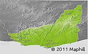 Physical Panoramic Map of MALDONADO, desaturated