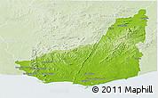 Physical Panoramic Map of MALDONADO, lighten