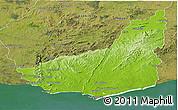 Physical Panoramic Map of MALDONADO, satellite outside