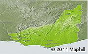 Physical Panoramic Map of MALDONADO, semi-desaturated