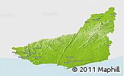 Physical Panoramic Map of MALDONADO, single color outside